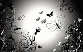 black white wallpaper designs 1369514 butterfly black and white