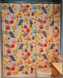 Vintage Shower Curtain Vintage Pac Man Shower Curtains To Lighten Up Your Bathroom