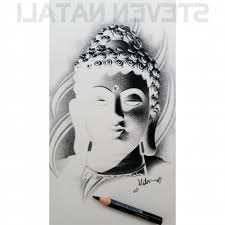 buddha pencil sketch drawings art library