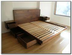 King Size Platform Bed With Storage Platform Storage Bed Frame Platform Beds King Size And Storage