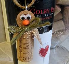penguin wine cork ornament in sage green the crafty wineaux