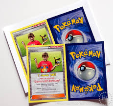Personalized Birthday Invitation Cards Pokémon Card Birthday Invitation The Scrap Shoppe