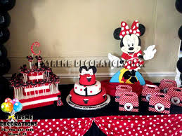 Red Minnie Mouse Cake Decorations Red And Black Minnie Mouse Birthday Party Minnie Red Cake Table
