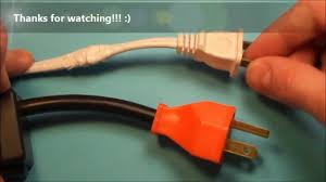 how to fix a broken electrical cord wire inside extension plug