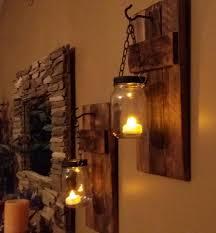 mason jar candle holders rustic decor sconces mason