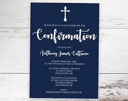 confirmation invitations confirmation invite etsy