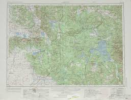 Idaho Montana Map by Ashton Topographic Maps Wy Id Mt Usgs Topo Quad 44110a1 At 1