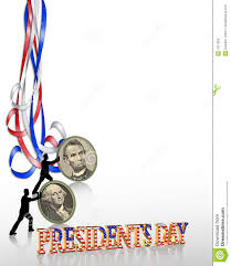 presidents day border graphic stock photography image 7877902