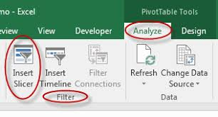 How To Make A Pivot Table In Excel 2010 How To Insert A Slicer In A Pivot Table In Microsoft Excel Webucator