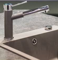 blanco linus single handle deck mounted kitchen faucet with pull