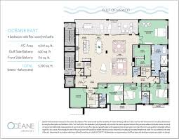 floorplans oceane siesta key waterfront condos siesta key