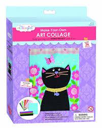 amazon com my studio paint and create felt collage kit cat