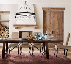 pottery barn farm dining table benchwright extending dining table alfresco brown pottery barn