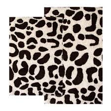 Black And White Bathroom Rug by Bathroom Foxy Picture Of Bathroom Decoration Using Leopard Print