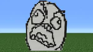 How To Make A Meme Face - minecraft tutorial how to make a rage face meme youtube