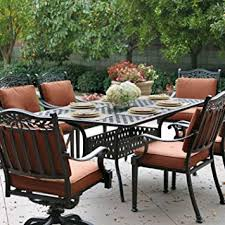 Charleston Patio Furniture by Amazon Com Darlee Charleston 7 Piece Cast Aluminum Patio Dining