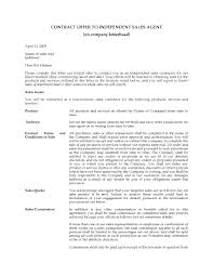 usa contract offer letter to independent sales agent legal forms