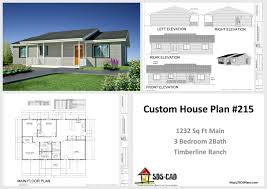 ranch house plan h217 modest timberline ranch house plans pdf u0026 dwg