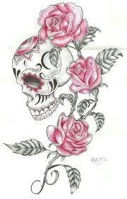 image result for beautiful skull tattoos for s