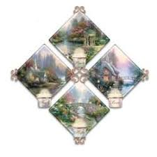 kinkade candle holder quartet collector plate collection
