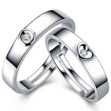 silver nice rings images Couple ring designs new open design 925 silver simple is beauty jpg