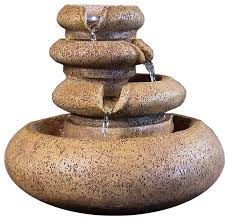 Home Decor Fountain Sunnydaze Three Tier Flowing Tabletop Fountain With Led Lights 8