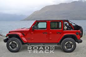 rubicon jeep red first in action photos videos of 2018 wrangler jl and jlu