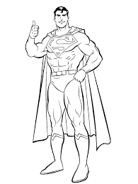 superman coloring pages preschoolers super heroes coloring