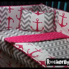 Pink Chevron Crib Bedding Best Pink Crib Bedding Set Products On Wanelo