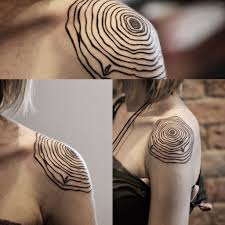 tree ring from today on cat shouldertattoo