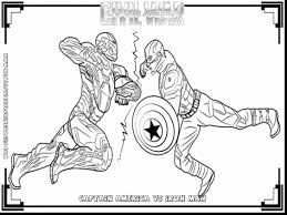 awesome marvel avengers coloring pages with captain america