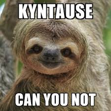 Sloth Meme Generator - kyntause can you not what did you say sloth meme generator