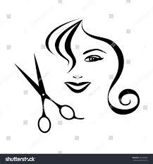 woman scissors design hair salon vector stock vector 233410090