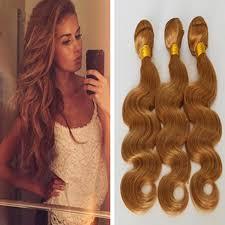 honey weave 3 bundles light brown wavy hair 8a unprocessed peruvian hair