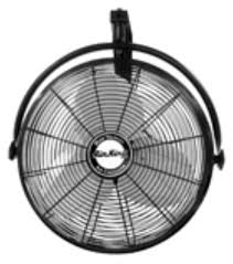 wall mounted ceiling fans 9020 air king wall mount fan in black with 1 6 hp power