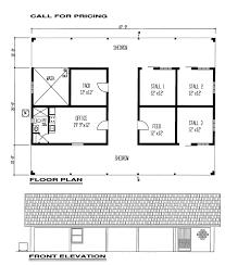 3 stall horse barn floor plans