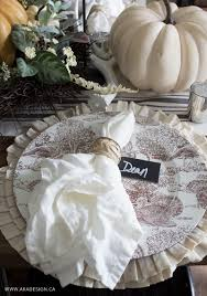 Table Setting Cards - how to create a layered fall table setting
