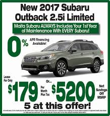 2017 subaru outback 2 5i limited maita subaru new subaru dealership in sacramento ca 95821