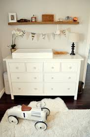 Nursery Changing Table Dresser Modern Oak Wood Changing Table Dresser With Drawer Painted With
