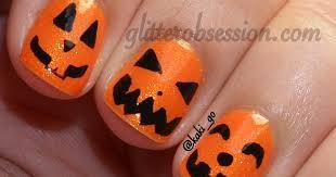 Halloween Nail Art Pumpkin - glitter obsession halloween nail art challenge pumpkin