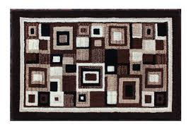 Modern Rug Design Modern Rug Door Mat 2 Ft X 3 Ft Brown Design 125