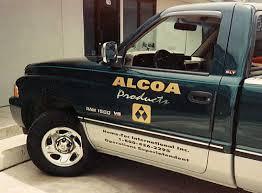 vehicle graphics truck lettering automotive warps