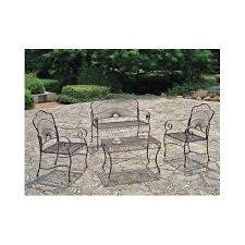outdoor patio furniture set wrought iron loveseat sets deck table