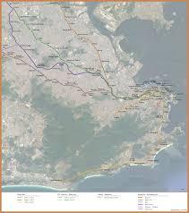 Map Of Rio De Janeiro Railway Maps Of Brazil Rio De Janeiro