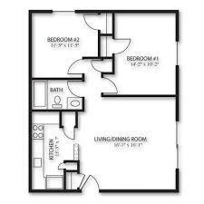 Floor Plan 2d 2d Floor Plan Image 1 For The 2 Bedroom Garden Floor Plan Of