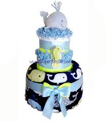 diper cake ahoy baby whale cake nautical cake