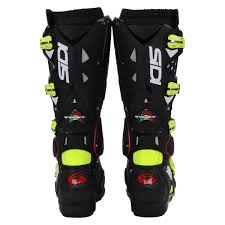 best motocross boot sidi new 2016 mx crossfire 2 srs euro dirt bike black yellow