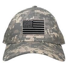 American Flag Flat Bill Hat Low Profile Us American Flag Patch Camo Cap Acu U2013 Armycrew Com