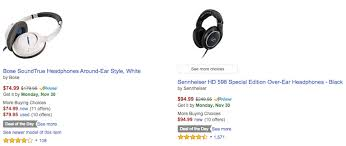 amazon black friday audio technica deal alert bose soundtrue around ear headphones 75 and