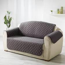 protège canapé matelassé gris anthracite dessus de chaise jeté